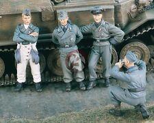 """Verlinden 1/35 """"Comrades"""" German Tank Crew Photo Posing WWII (4 Figures) 1916"""
