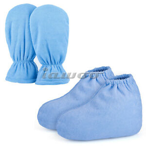 Larger Paraffin Hot Wax Gloves Heated SPA Mittens Foot Liners Therapy Treatment