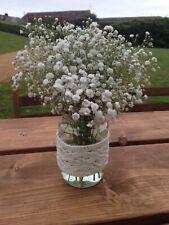 Crochet Covered Glass Jars/vases, wedding decoration, 2lb jars included.