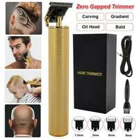 2020 HOT Zero Gapped Hair Clipper Rechargeable Cordless T-Outliner Trimmer Metal