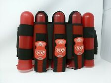 Nxe Black Red Paintball Harness 3+4 Pod Pack With 5 Pods Dye Empire Hk Eclipse