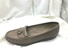 SAS Softie beige brown tassel loafers womens flats 8.5AAA slim extra narrow shoe