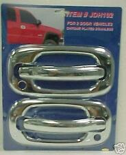Chrome Stainless Door Handle Covers 2-Pc Fits 99-06 Chevy Silverado / GMC Sierra