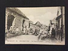 Vintage Postcard - WW1 #32 - Great War Serie - Herbecourt Somme Damaged Building