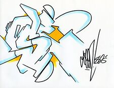 SEEN graffiti original signé sur papier 80 G  22 x 28cm /cope2/futura/RD357/taki