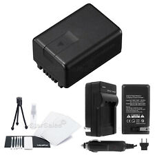 VW-VBK180 Battery + Charger + BONUS for Panasonic HDC-TM40 SD40 HS60 SD60 SDX1