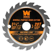 "Wen Bl0320 3-3/8"" 20-Tooth Woodworking Saw Blade for Compact &