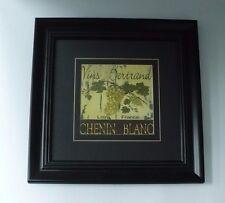Black Plastic Framed Chenin Blanc Vins Bertrand Loire France Wall Decor