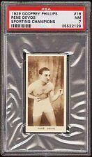 1929 GODFREY PHILLIPS RENE DEVOS RC PSA 7 BOXING CHAMP Only 1 psa 8 Higher