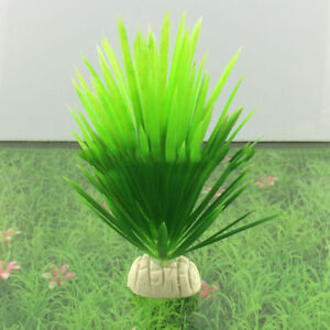 Artificial Plastic Plant Narcissus Water Grass Fish Tank Aquarium Decor Ornament