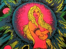 Space Girl UV Schwarzlicht Poster Velva Print 58 x 89 cm