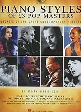 Piano Styles of 23 Pop Masters - Secrets of the Great Contemporary Players + CD