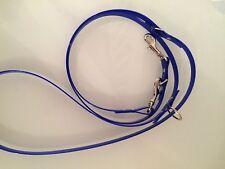 Royal Blue Alto Brillo Biothane Pequeño-Med perros longitud ajustable-muy fuerte