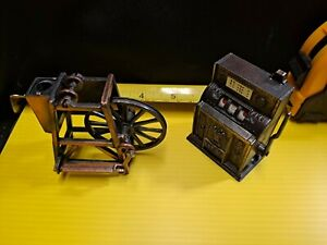 VINTAGE BRASS PENCIL SHARPENERS - MILL AND SLOT MACHINE - MINIATURES