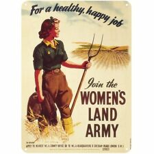Women's Land Army small metal sign 210mm x 150mm   (hb)