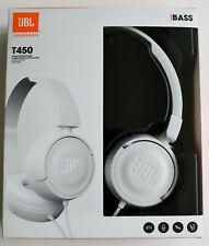 JBL T450 Over Ear Lightweight Wired Foldable Headphones Pure Bass Universal
