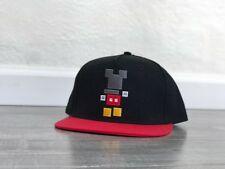 New listing Neff Mickey Mouse Baseball Hat Snapback Adjustable Black Red Digital Blocks