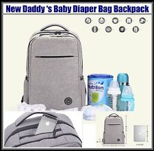 Father Dad Daddy Men 's Baby Diaper Bag Backpack Gray New
