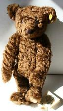 Steiff Teddy Bear Chocolate Classic 1907 Curly Mohair Jointed Yellow Tag Great