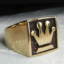 MEN'S CHESS QUEEN GAME CHAMPION  SOLID BRONZE GOOD LUCK  RING rook bishop king