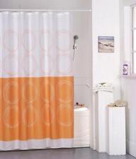 Rideau de douche en tissu Circle Orange 180x180 cm cloison Rideau incl. anneaux