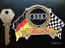 AUDI Flags & Scroll classic car sticker 80 90 100 QUATTRO TT RS A3 A4 A5 A6 etc