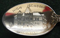 Sterling Souvenir Spoon Henry, Illinois High School, 1900