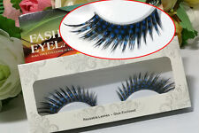NEW Little Blue Art Handmade False Eyelashes Eye Lashes Makeup Exaggerate Stage