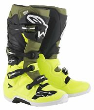ALPINESTARS  STIVALI FUORISTRADA TECH 7 BOOT YELLOW FL.MILITARY GREEN BLK TG.10