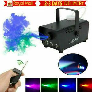500W RGB LED Smoke Machine Fog Effect Wireless Remote Control Christmas DJ Party