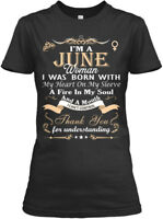 Happy Birthday June Woman - I'm A I Was Born With My Gildan Women's Tee T-Shirt