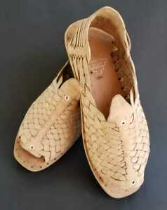 Mexican Huaraches sandals cien 100 clavos White Leather Tire Sole natural color