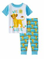 *NEW* Disney Lion King Simba Infant Boys Wake Up Awesome Pajama Set Blue