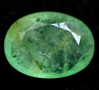 100% Natural Green Zambian Emerald Gem Stone 5.35 Ct AGSL Certified Oval !!