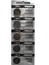 5 PACK FRESH ENERGIZER CR1632 ECR1632 1632 3V Lithium Coin Battery Expire 2025