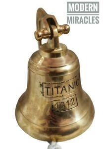 Nautical Solid Brass  London Hanging Maritime Ship Bell Titanic 1912 Wall Decor