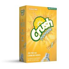 10 Boxes Of Pineapple Crush Singles to Go Sugar Free Drink Mix