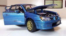 1:24 Scale Blue Diecast Motormax Subaru Impreza WRX STi Model Car 2005 73330