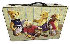 SUITCASE STYLE TEDDY BEAR STORAGE CARRY CASE