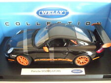 PORSCHE 911 997 GT3 RS schwarz orange 2007 von WELLY 1:18 NEU  RAR