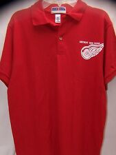 JERZEES Womens XL Detroit Red Wings Shirt Polo Short Sleeve Hockey