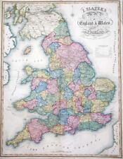 1847 Large Antique Map - I SLATER'S NEW MAP OF ENGLAND WALES Scotland (LM16)