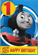 Età 1,ONE THOMAS THE TANK ENGINE cartolina Di Compleanno Felice 1ST Compleanno 9 x 6 pollici (N7)