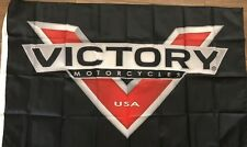 VICTORY MOTORCYCLE FLAG 3x5 Banner Garage Man Cave Riding