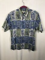 Tori Richard Hawaiian Shirt Size Medium Mens Short Sleeve Made in USA Button Up