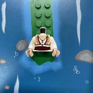 Lego MiniFigure White Torso BLOUSE Vest Red Stash