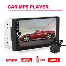 "7"" 2 DIN Car Mp3 Player Stereo Touch Screen Bluetooth FM USB Radio Rear Camera"
