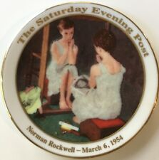 New ListingNorman Rockwell 'Girl at the Mirror' Mini Collector Plate, Saturday Evening Post