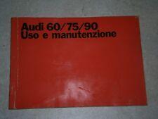 AUDI 60-75-90 LIBRETTO USO E MANUTENZIONE 1970 OTTIME CONDIZIONI