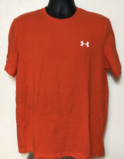 Under Armour Mens Heatgear Charged Loose Athletic T-Shirt Orange / White Size L